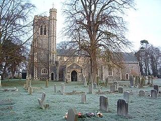 Brockdish village in the United Kingdom