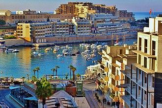St. Julian's, Malta - View of the port from the InterContinental Malta