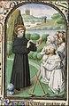 St. William of Gellone preaching, a helmet at his feet - Book of hours Simon de Varie - KB 74 G37 - 088r min.jpg