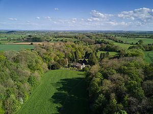 Kirkdale, North Yorkshire - Aerial view of Gregory's Minster in Kirkdale