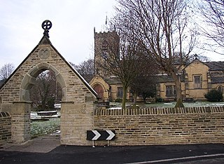 Kirkheaton Village in West Yorkshire, England