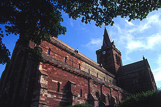 Mainland, Orkney - St Magnus Cathedral, built from the Old Red Sandstone prevalent on the island