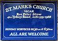 St Mark, Lorne Road, London E7 - Notice board - geograph.org.uk - 1724117.jpg