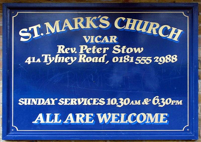 File:St Mark, Lorne Road, London E7 - Notice board - geograph.org.uk - 1724117.jpg