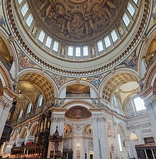 St Paul's Cathedral Interior Dome 2 crop, London, UK - Diliff.jpg