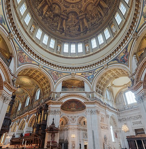 File St Paul S Cathedral Interior Dome 2 Crop London Uk