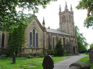 Halliwell, Greater Manchester - St Peter's, Halliwell parish church, built in 1838