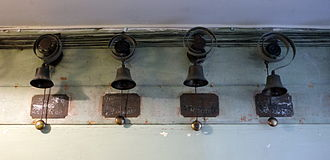 Servants' quarters - Staff call bells, attached to bell pulls in various rooms