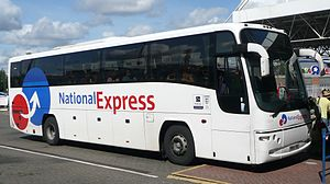National Express Coaches - Stagecoach Yorkshire Plaxton Panther bodied Volvo B12B in the 2003 livery at Southampton in 2008