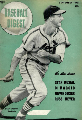 Stan Musial - Musial on the cover of Baseball Digest, September 1948