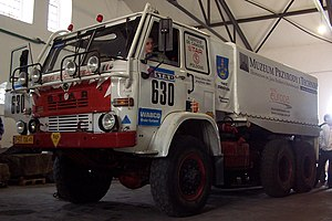 Star 266 - One of the two Star 266 trucks used for the 1988 Dakar Rally in Nature and Technology Museum in Starachowice.