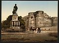 Statue and castle of King Rene, Angers, France-LCCN2001697553.jpg