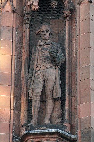 James Hutton - Statue of James Hutton, Scottish National Portrait Gallery