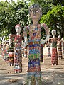 Statues made of waste Bangles at Rock Garden, Chandigarh.jpg