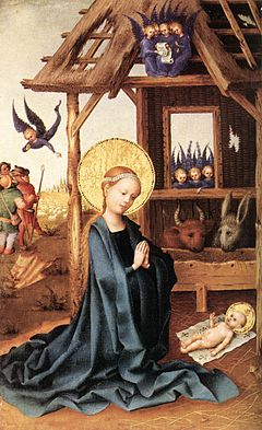 Stefan Lochner - Adoration of the Child Jesus - WGA13343