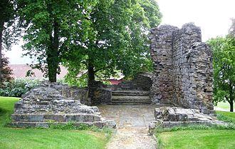 Hole, Norway - Stein kirkeruin