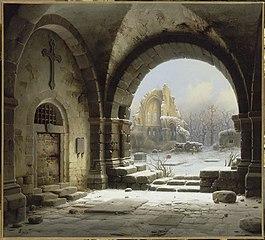 Ruines de l'abbaye médiévale de Heisterbach (Rhénanie)