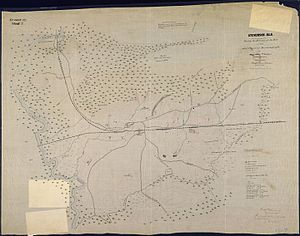 Fort Harker (Alabama) - 1864 map of Stevenson, Alabama and vicinity showing defenses.