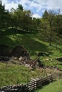Stile and footbridge, Thursden Brook - geograph.org.uk - 174603
