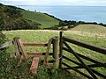 Stile and view near Whiteway Lane - geograph.org.uk - 958910.jpg