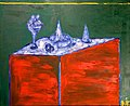 Still Life on Green 1978 cardboard, oil painting 67 x 83.jpg