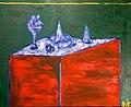 Still Life on Green 1978 cardboard, oil painting 67 x 83.jpg