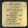 Stolperstein Treburer Str 23 Oppenheimer Gustav