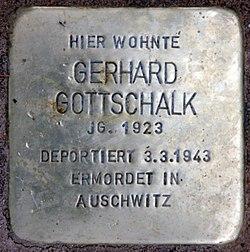 Photo of Gerhard Gottschalk  brass plaque
