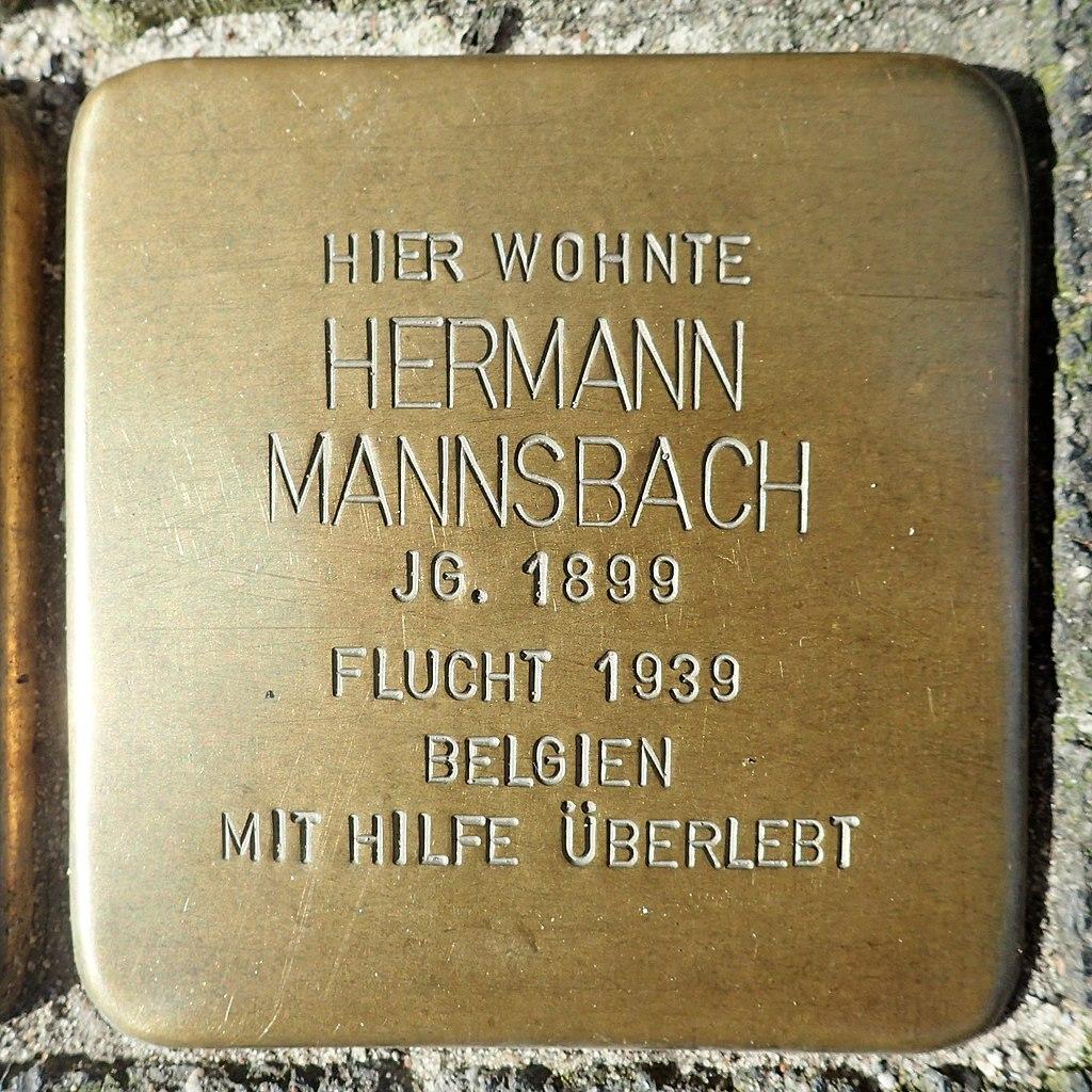 Stolperstein für Hermann Mannsbach