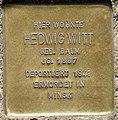 Stolperstein Elberfelder Str 20 (Moab) Hedwig Witt.jpg