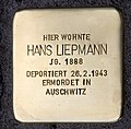 Stolperstein Kottbusser Damm 7 (Kreuz) Hans Liepmann.jpg