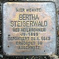Stolperstein Sächsische Str 6 (Wilmd) Bertha Steigerwald.jpg