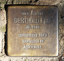 Photo of Berthold Feit brass plaque