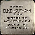 Stolpersteine Köln, Elise Kaufmann (Lübecker Straße 22).jpg