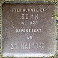 Stolpersteine Köln, Romm, Stein-Nr. 104 (Holzmarkt 1).jpg