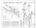 Stoney Spillway Gates 1925 - Wilson Dam and Hydroelectric Plant, Stoney Spillway Gate, Spanning Tennessee River at Wilson Dam Road (Route 133), Muscle Shoals, HAER ALA,17-MUSHO,2D- (sheet 1 of 1).png