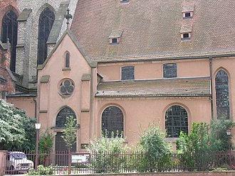 Old Saint Peter's Church, Strasbourg - Entrance to Protestant church