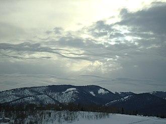 Stratocumulus cloud - Stratocumulus lenticularis clouds in Jackson, Wyoming