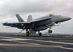 Strike Fighter Super Hornet Lands on Deck DVIDS59225.jpg