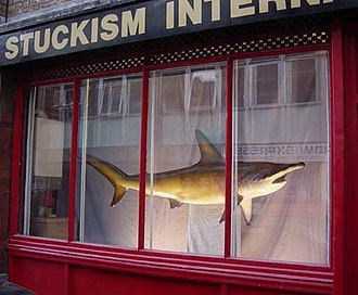 The Physical Impossibility of Death in the Mind of Someone Living - A Dead Shark Isn't Art, 2003. Stuckism International Gallery