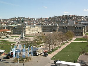 Schlossplatz (Stuttgart) - Schlossplatz looking towards the Neues Schloss