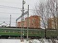 Suburban electric train on the railway. February 2014. - Электричка на железной дороге. Февраль 2014. - panoramio.jpg