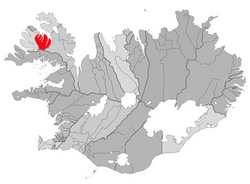Location of the Municipality of Súðavík