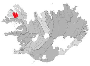Súðavík - Image: Sudavikurhreppur map
