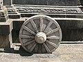 Sunken wheel of Chariot, Amrithakadeswarar temple Melakadambur.jpg