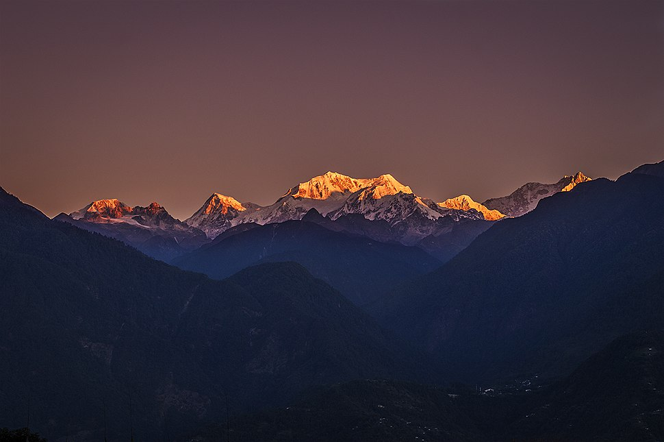 Sunrise over Kangchenjunga