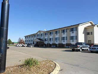 Super 8 Motels - A Super 8 in Kingdom City, Missouri, representative of the style built by franchisee Supertel Hospitality
