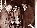 Suratissa Wijeyeratne with Prime Minister Rt Hon. D.S Senanayake.jpg