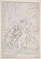 Susanna and the Elders (recto); Architectural design and other scribbles (verso) MET DP811082.jpg