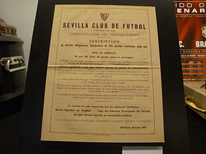 Sevilla FC - Bond issue to build the new stadium (1957)